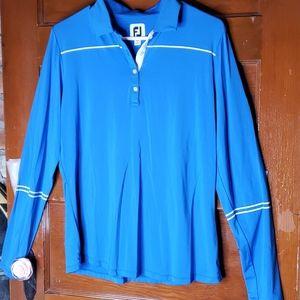 FootJoy Sun Protection Long Sleeve Golf Shirt LG